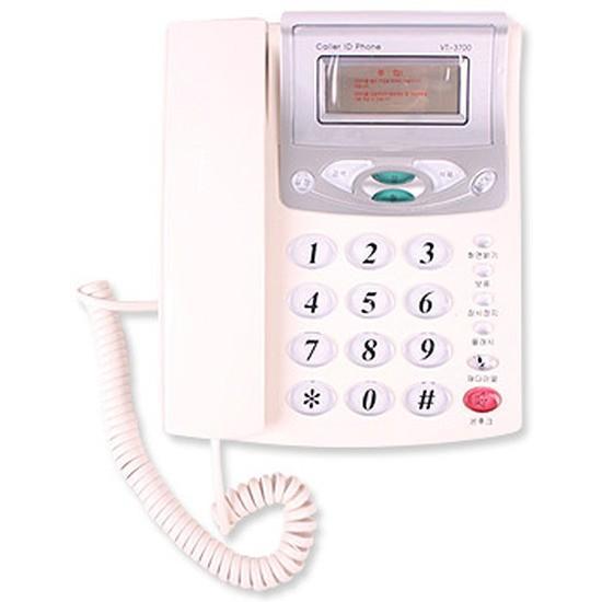 VT-3700 전화기 화이트 레드 램덤발송 사무실전화 유선