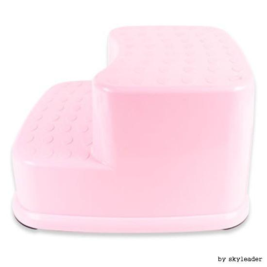 다기능 멀티2단 디딤대의자(핑크색)