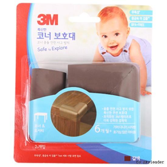 3M 푹신한 코너보호대2P(갈색)
