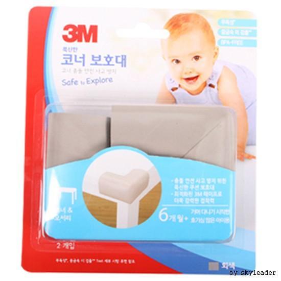 3M 푹신한 코너보호대2P(회색)