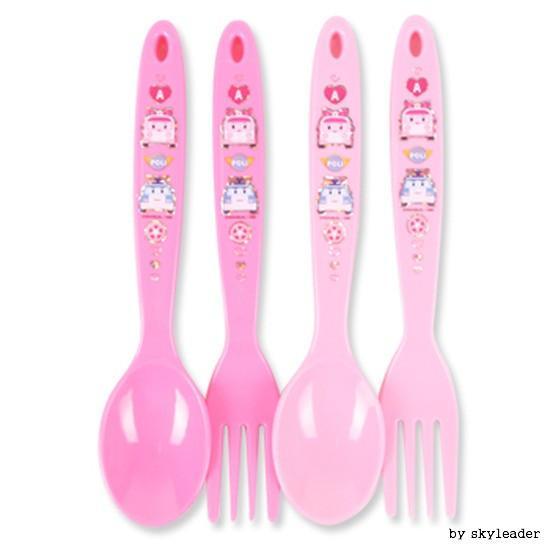 엠버 어린이 스픈포크 4P(핑크)