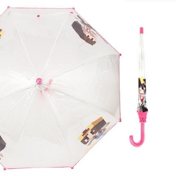 샌드박스 잠뜰 돔형 50 비닐우산(핑크)